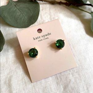 Kate Spade Rise And Shine Emerald Earrings